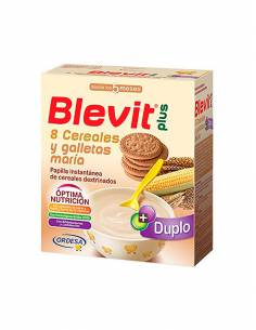 BLEVIT PLUS DUPLO 8 CEREALES Y GALLETA 600G
