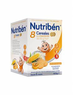 NUTRIBEN PAPILLA 8 CEREALES MIEL GALLETA 600 G
