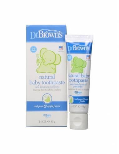 DR BROWN S PASTA DENTAL INFANTIL NATURAL MANZANA 40 G