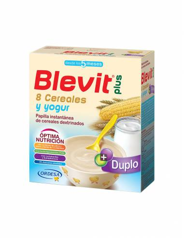 BLEVIT PLUS DUPLO 8 CEREALES YOGUR 600 G