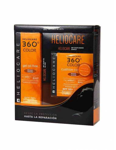 HELIOCARE 360º GEL OIL FREE BRONZE PLUS SPF50+ 50 ML + CUSHION COMPACT SPF50+ 15 ML PACK