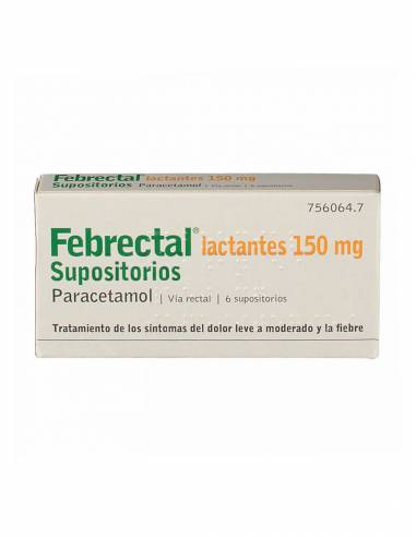 FEBRECTAL LACTANTES 150 MG 6 SUPOSITORIOS