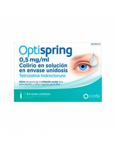 OPTISPRING 0,5 MG/ML COLIRIO 10 MONODOSIS SOLUCIÓN