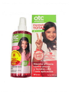 OTC ANTIPIOJOS SPRAY FÓRMULA TOTAL 125 ML + SPRAY DESENREDANTE PROTECT FRESA 250 ML
