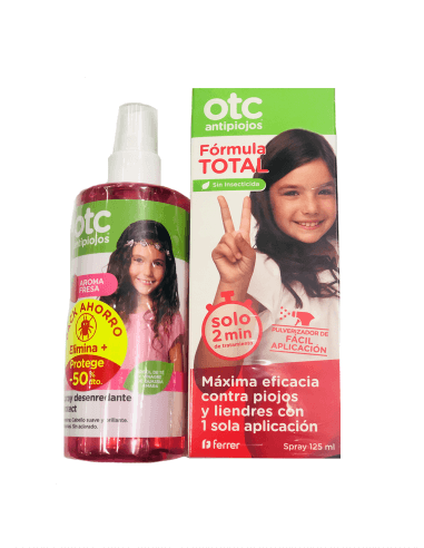 Otc Antipiojos Spray Formula Total 125 Ml Spray Desenredante