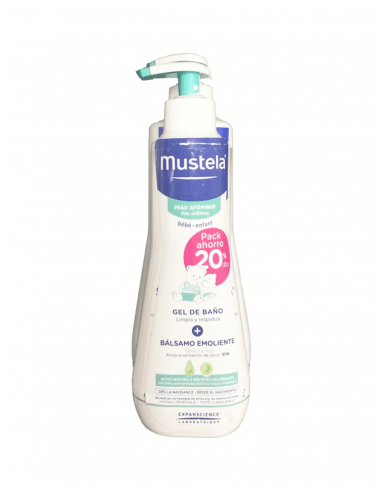 MUSTELA STELATOPIA GEL DE BAÑO 500 ML + BÁLSAMO EMOLIENTE 300 ML PACK