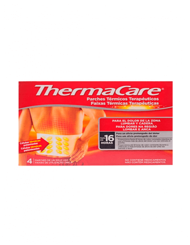 THERMACARE PARCHES ZONA LUMBAR Y CADERA 4 PARCHES