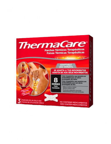THERMACARE ADAPTABLE 3 PARCHES TÉRMICOS