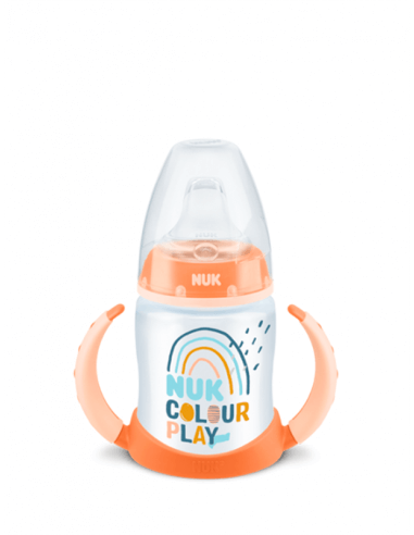 NUK COLOUR PLAY BIBERÓN ENTRENA 6-18 MESES 150 ML