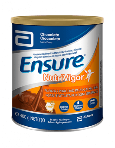 ENSURE NUTRIVIGOR POLVO SABOR CHOCOLATE 400 G