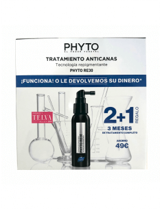 PHYTO RE30 TRATAMIENTO ANTICANAS  50 ML 2 + 1 PACK
