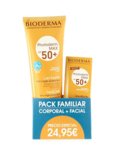 BIODERMA PHOTODERM MAX SPF50+ 250 ML + AQUAFLUIDO SPF50+ 40 ML PACK