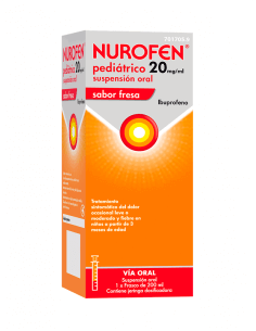 NUROFEN PEDIÁTRICO FRESA 20 MG/ML SUSPENSIÓN ORAL 200 ML