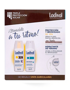 LADIVAL PROTECCIÓN SPRAY SPF50 150 ML+ HIDRATANTE VERANO SPRAY 150 ML