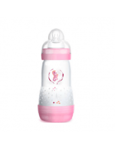 MAM BIBERÓN ANTICÓLICO EASY START ROSA +2 MESES 260 ML