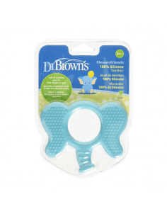 DR. BROWN'S MORDEDOR FLEXEES FRIENDS ELEFANTE AZUL 1 UNIDAD