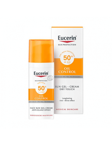 EUCERIN SUN PROTECTION SPF50 GEL-CREMA OIL CONTROL TOQUE SECO 50 ML