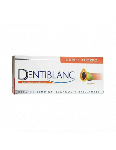DENTIBLANC PASTA DENTAL BLANQUEADORA PAPAYA DUPLO 2 X 100 ML