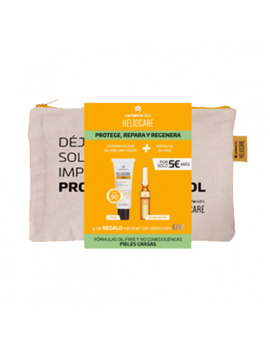 HELIOCARE 360º GEL OIL-FREE DRY TOUCH 50 ML + ENDOCARE RADIANCE AMPOLLAS OIL FREE 10 UNIDADES X 2 ML PACK