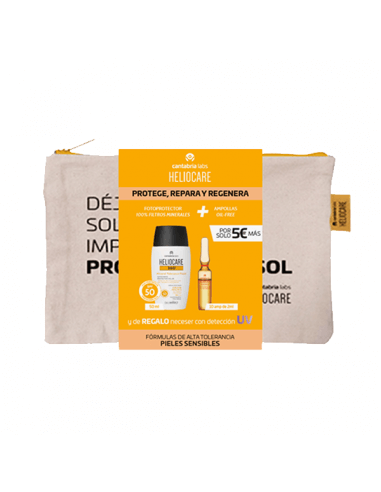HELIOCARE 360º MINERAL TOLERANCE FLUID 50 ML + ENDOCARE RADIANCE AMPOLLAS OIL FREE 10 UNIDADES X 2 ML PACK
